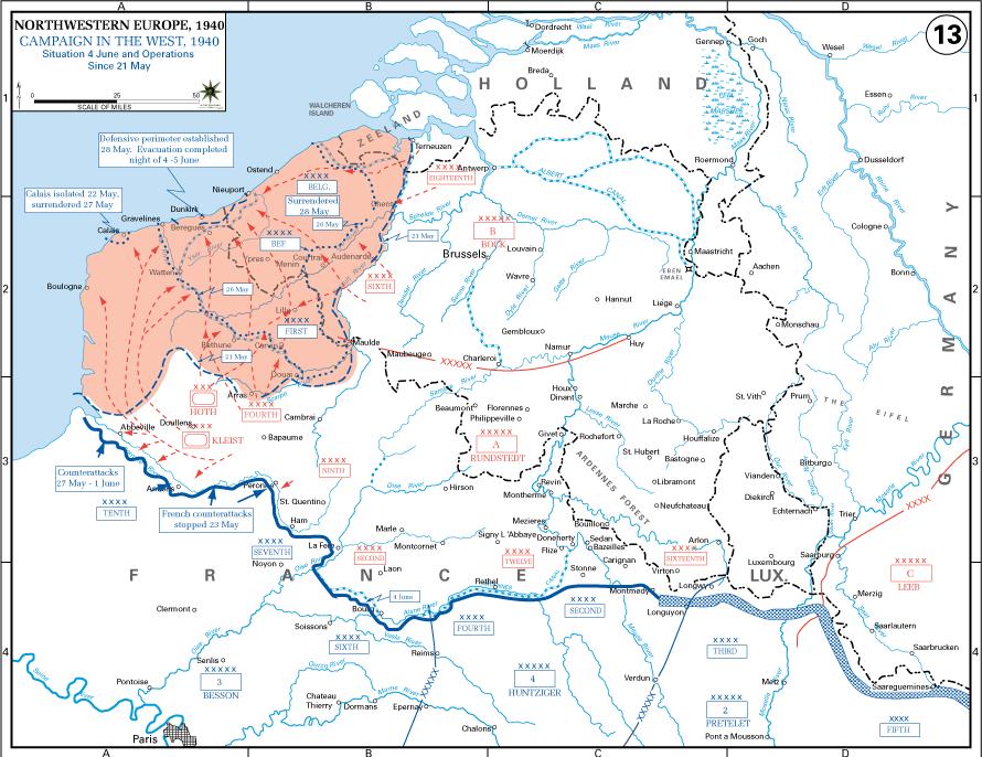 mapa norte frança Batalha da França – Hoje na Segunda Guerra Mundial mapa norte frança
